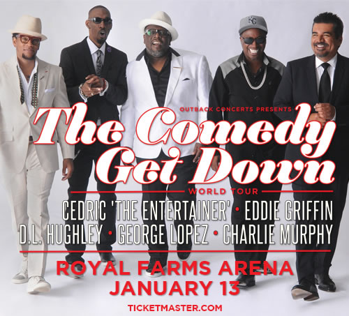 BLACK & BROWN COMEDY GET DOWN - CEDRIC THE ENTERTAINER, EDDIE GRIFFIN, D.L. HUGHLEY, GEORGE LOPEZ, and CHARLIE MURPHY -  Performing Live at The Verizon Center